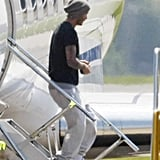 David Beckham got off a private jet from Philadelphia.