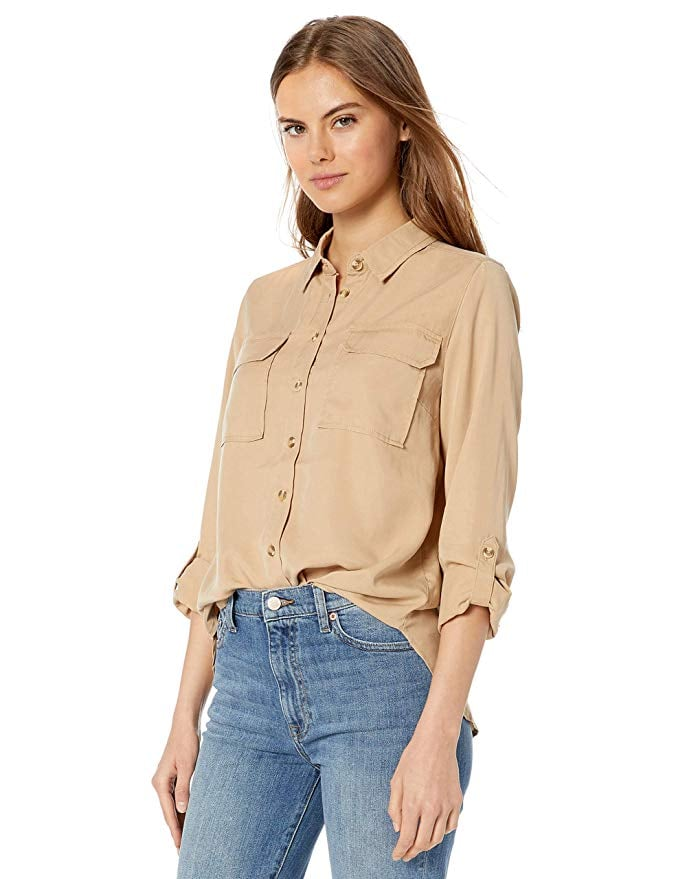 The Drop Erin Long-Sleeved Loose-Fit Utility Pocket Shirt