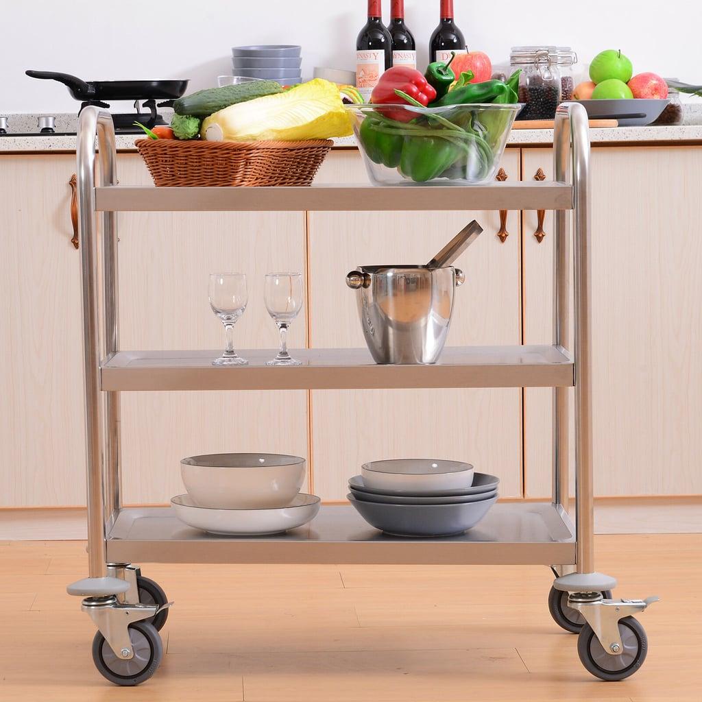 3-Tier Rolling Kitchen Cart