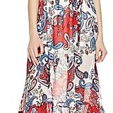 N Nicholas Paisley Print Ruffle Maxi Dress ($565)