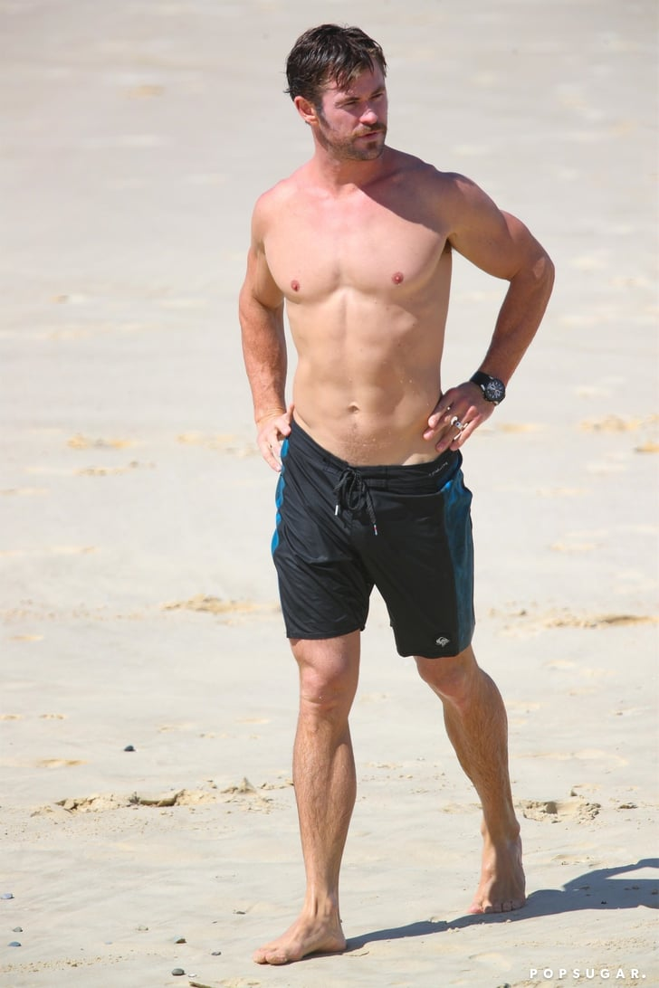Chris Hemsworth Shirtless Pictures in Australia April 2018 ...