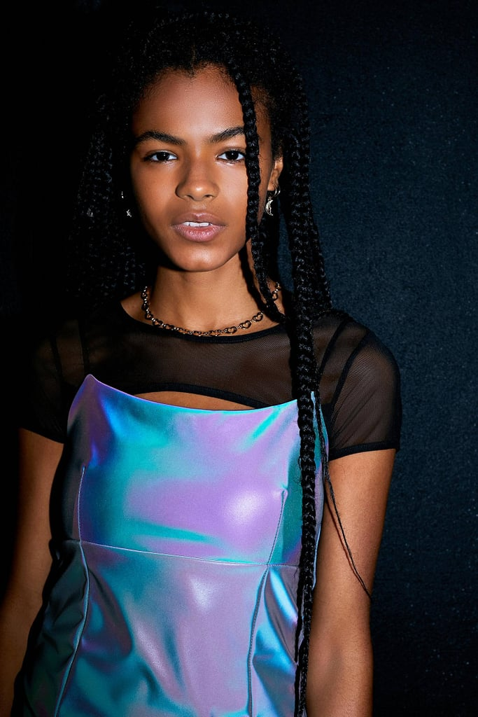 Ariel: UO Reflective Strappy Mini Dress