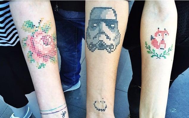 Cross-Stitch Tattoos