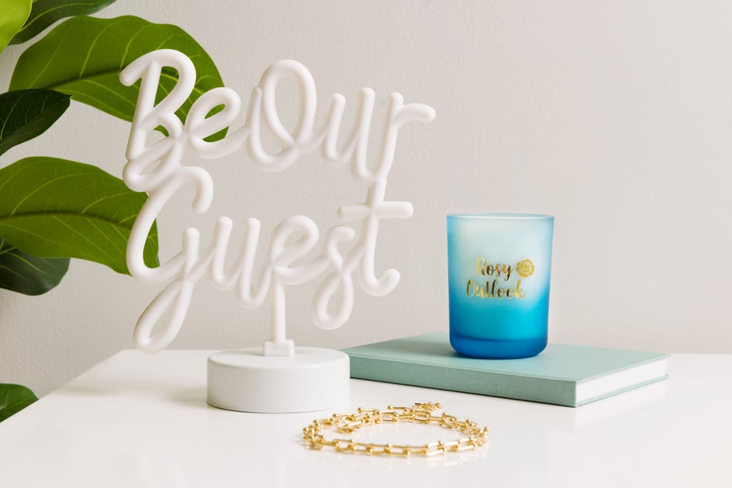Aries (March 21-April 19): Transitional Style With the Belle Be Our Guest Neon Desktop Lamp