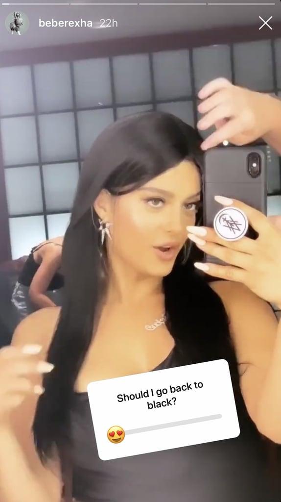 Bebe Rexha With Long, Black Hair
