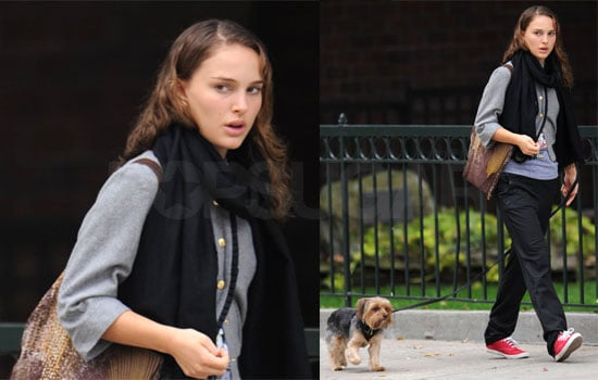 Photos of Natalie Portman Walking Her Dog in the West Village, Set to Star in Love and Other Impossible Pursuits