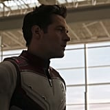 """Specifically, they're going to the Quantum Realm. As I said, this suit looks remarkably like Scott's Ant-Man uniform, but it's also an upgraded version. Undoubtedly, the suits are courtesy of Tony — because as he says, he just """"makes everyone look cooler."""" If we had to guess, the suits give everyone Ant-Man's ability to """"shrink to roughly the size of an ant,"""" with a bit of that Stark nano tech to give them all kinds of special awesomeness."""