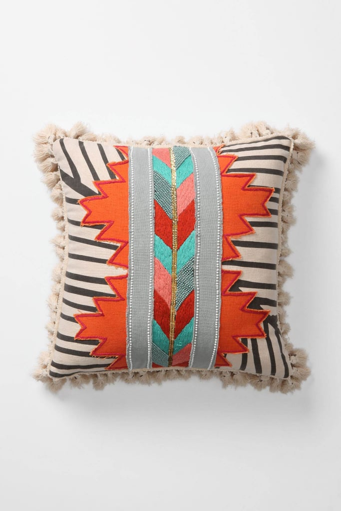 The Jacinto Pillow ($118) gives the geometric trend a Native American twist.