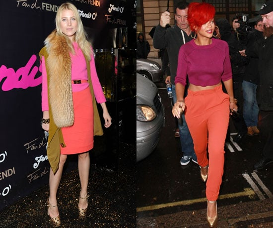 Pictures of Rihanna and Dree Hemingway in Bright, Sorbet Colour Trend