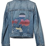GapKids Disney Mickey Mouse Stripe Denim Jacket