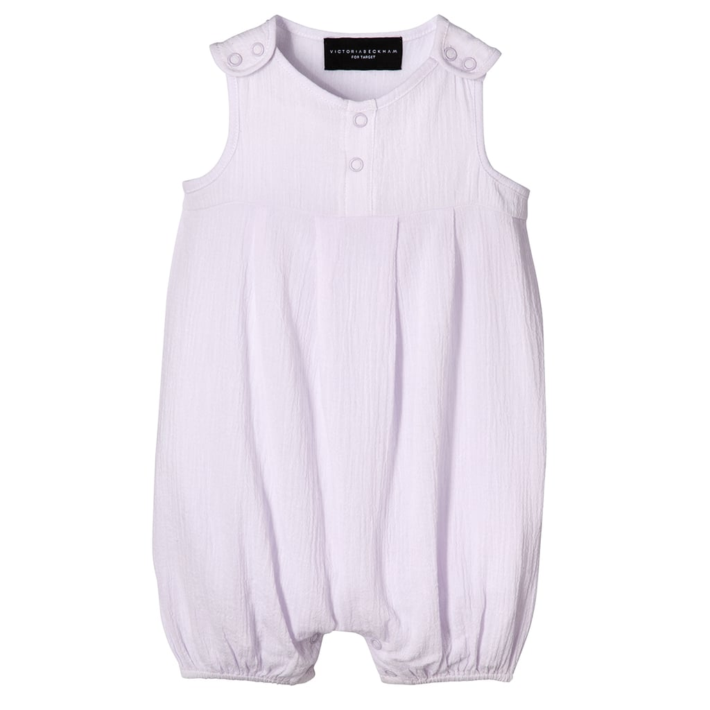 Baby Lilac Pleated Romper ($13)