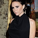 Victoria Beckham wore her hair back for a reception following the British Fashion Awards.
