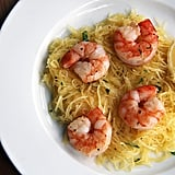 Roasted Prawn Over Spaghetti Squash