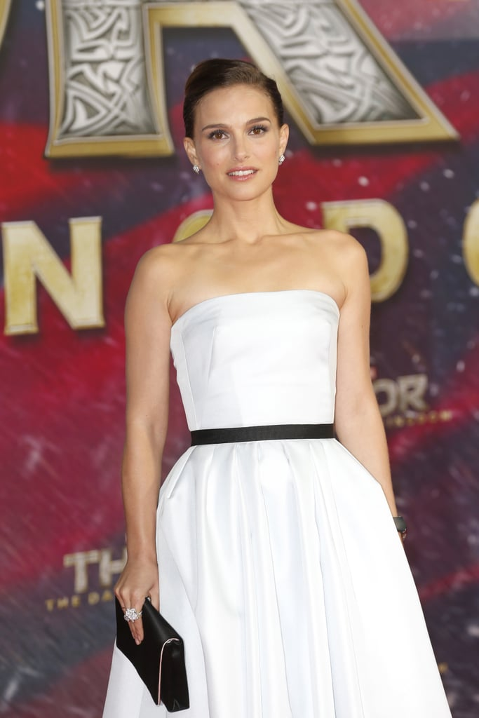 Natalie Portman dressed up for the Thor: The Dark World premiere.