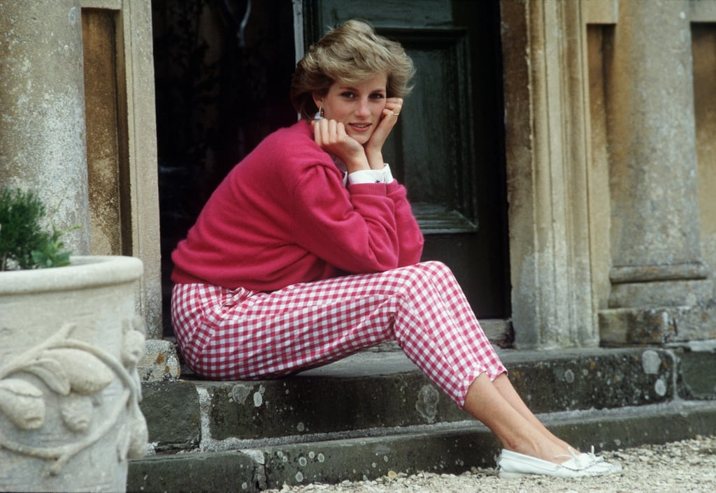 Princess Diana's Pink Sweater and Plaid Pants