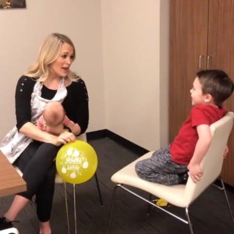 Carrie Underwood Sings Happy Birthday After Sucking Helium