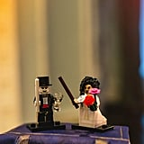 The Lego Voldemort and Bellatrix Lestrange wedding cake toppers are absolutely the cutest.