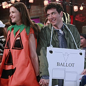 Katie Holmes as Slutty Pumpkin Pictures on How I Met Your Mother Halloween Episode
