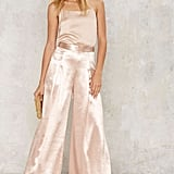 New York's in Love Satin Trousers, $116