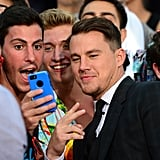 Channing made time to take selfies with excited fans.