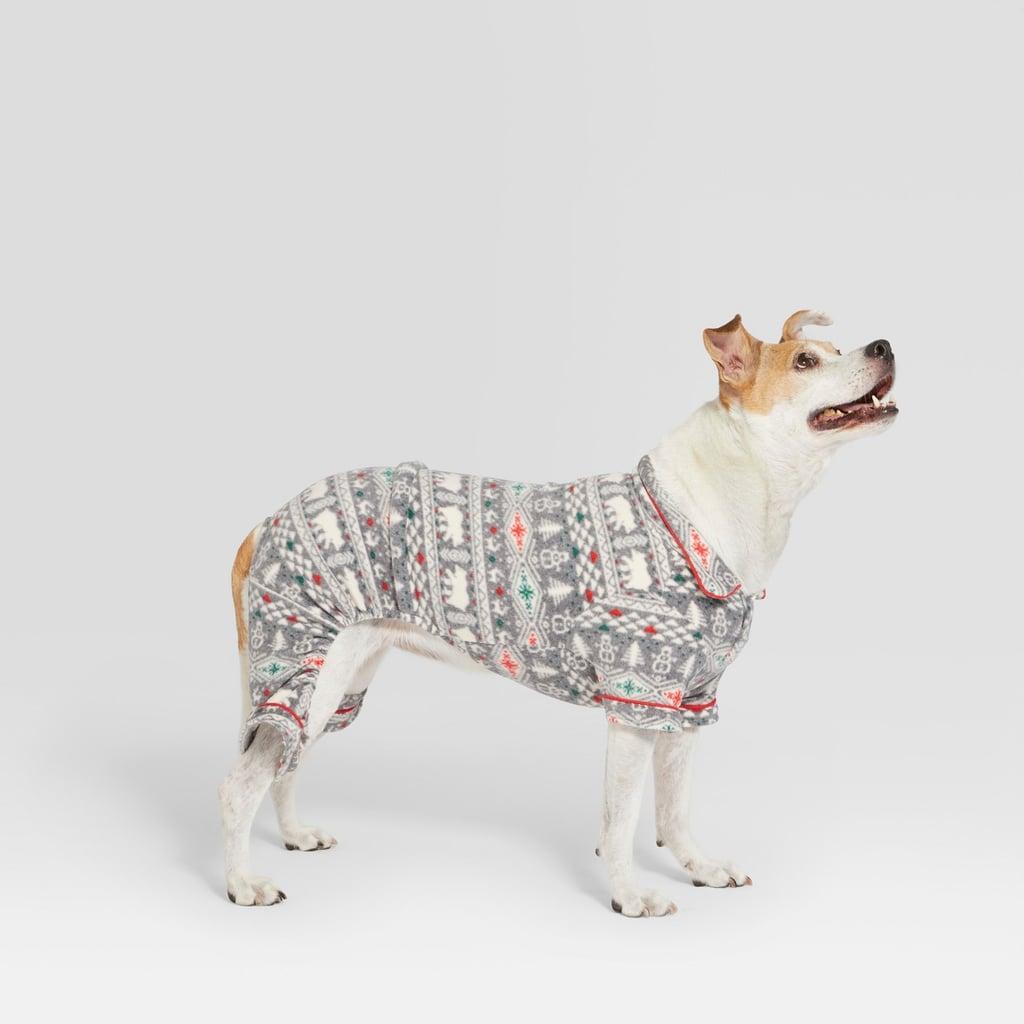 Target Pet Holiday Fuzzy Bear Fair Isle Pajamas