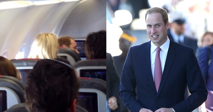 Prince William Spotted Flying Economy On Commercial Flight