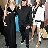Pictured: Gigi Hadid, Michael Kors, and Bella Hadid