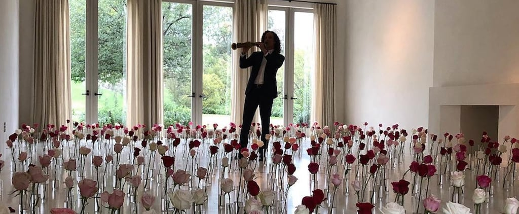 Kanye West Hires Kenny G to Play For Kim For Valentine's Day