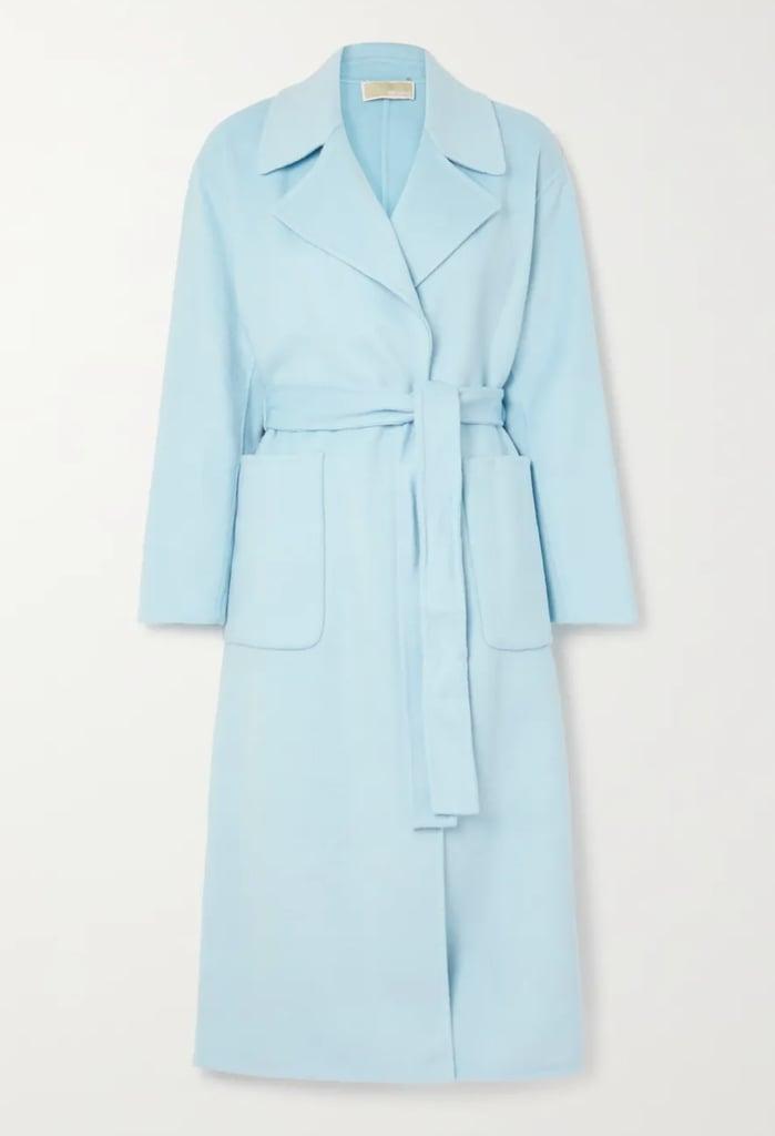 Michael Michael Kors Belted Wool-Blend Felt Coat