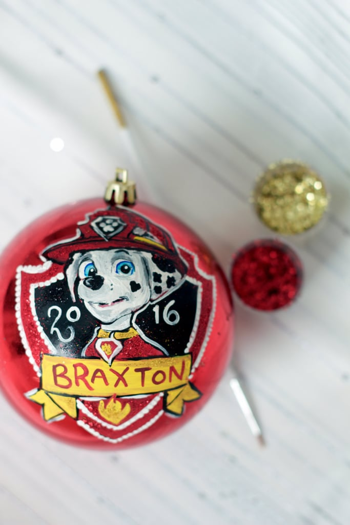 Paw Patrol Christmas Ornaments Personalized.Handpainted Paw Patrol Kid Ornament Personalized Christmas