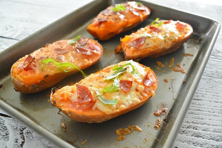 Sweet Potato Pizza Boats Recipe Popsugar Fitness