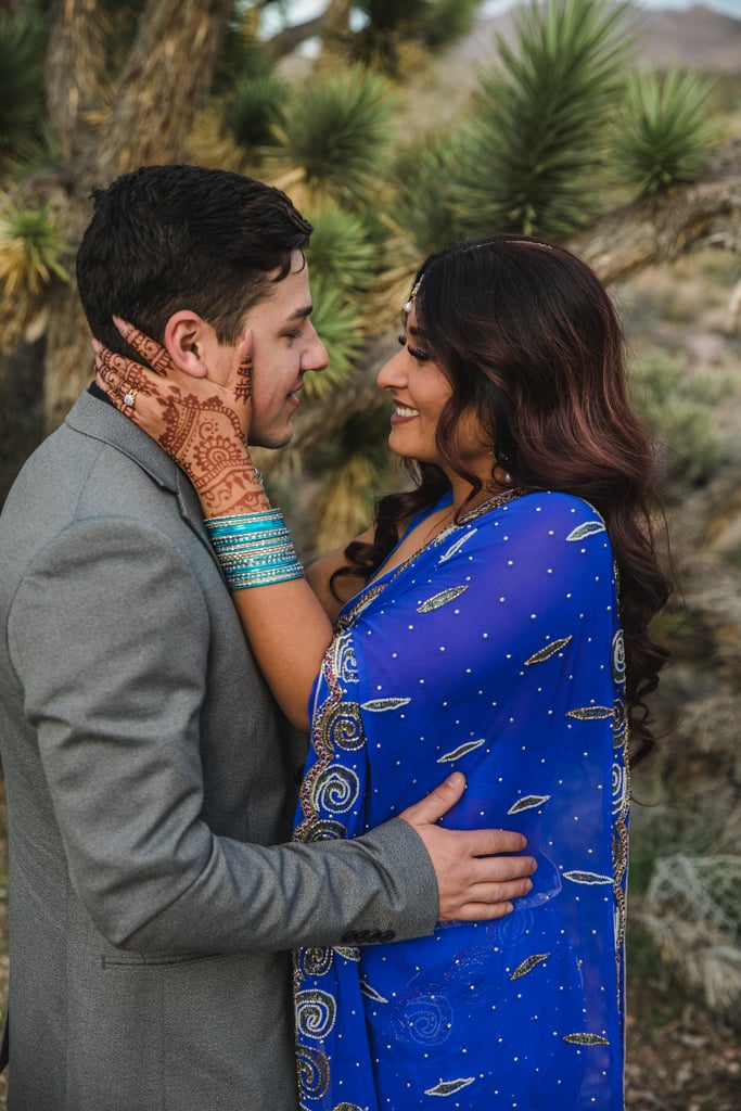 This Sunset Vow Exchange in the Desert Was Unbelievably Romantic