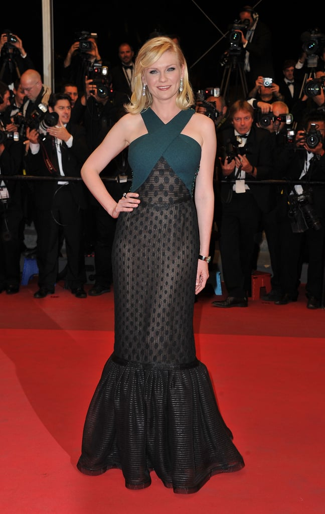 The actress wore a Rodarte Fall '11 polka-dot haltered mermaid dress for an appearance at the Cannes Festival in May 2011.