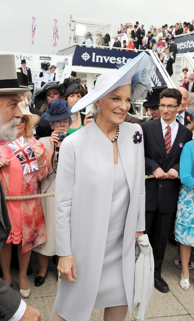Princess Michael of Kent looked elegant at the derby.