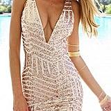 Memorose Sequin Halter Dress