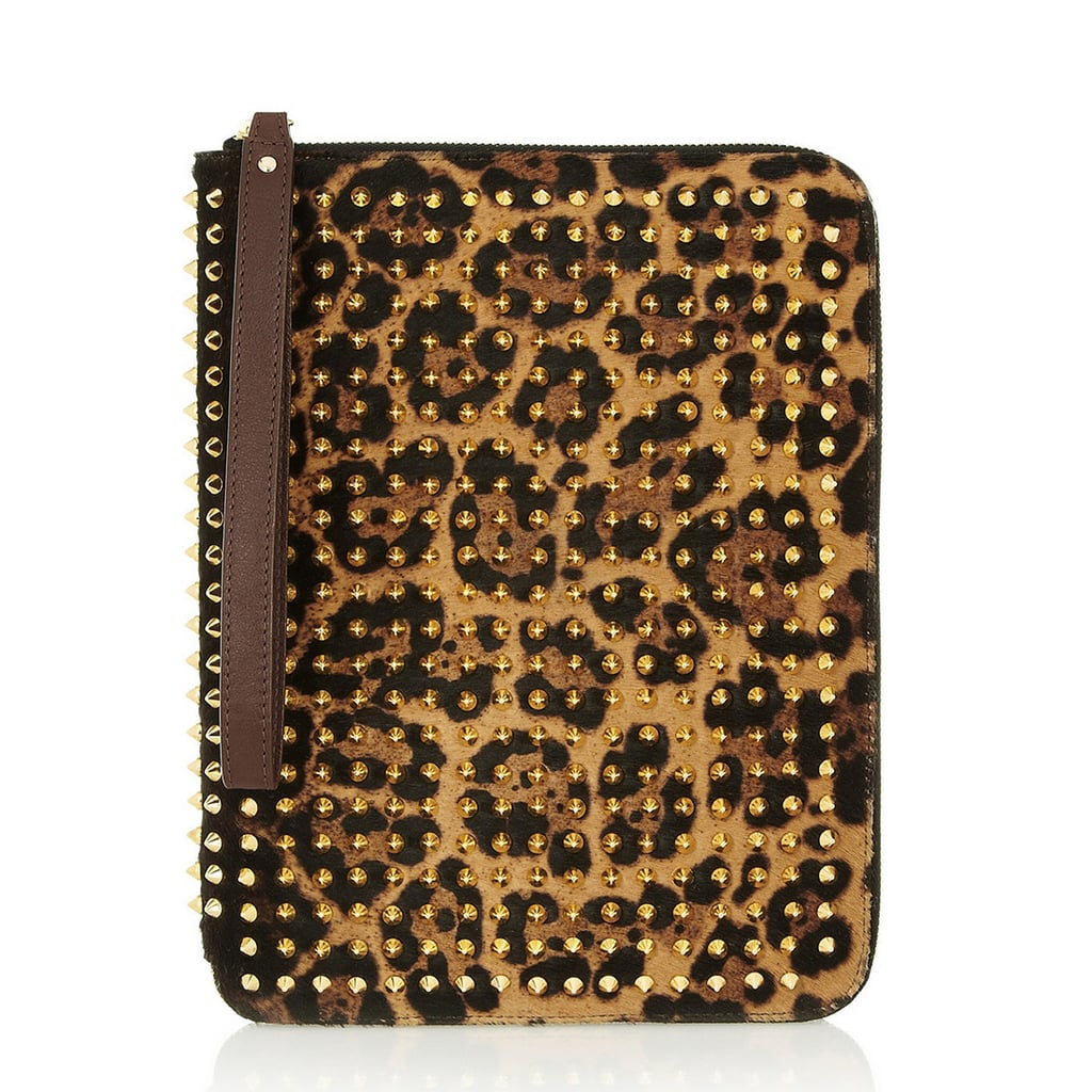 If you're looking for a case that will make a statement, the Christian Louboutin leopard and stud cover ($795) should do the trick.