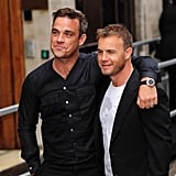 Pictures of Gary Barlow and Robbie Williams
