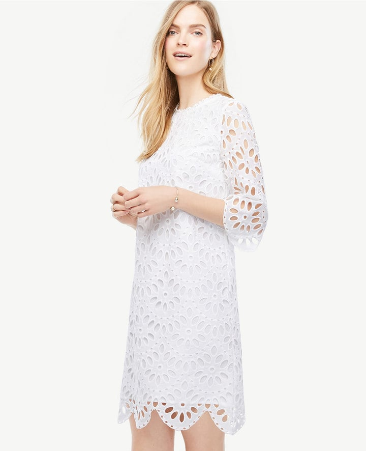 Ann taylor scallop eyelet shift dress casual wedding dresses ann taylor scallop eyelet shift dress junglespirit Images