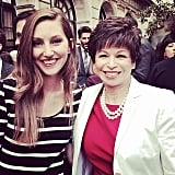 POPSUGAR News Editor Annie Gabillet caught up with President Barack Obama's Senior Advisor Valerie Jarrett.