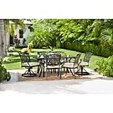 Hampton Bay Belcourt 7-Piece Metal Outdoor Dining Set With Cushions