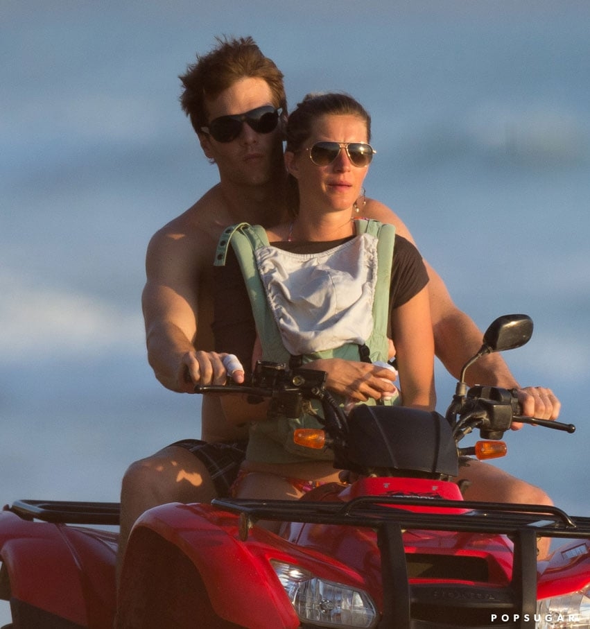 Tom Brady and Gisele Bündchen took Vivian on a beach ride.