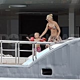 Gwen Stefani Gets More Bikini Time in Cannes With Her Boys