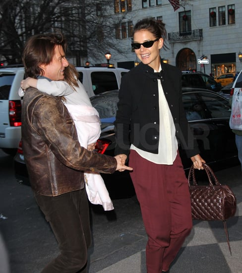Pictures of Tom Cruise, Katie Holmes, and Suri Cruise in NYC