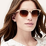 Loft Striped Sunglasses