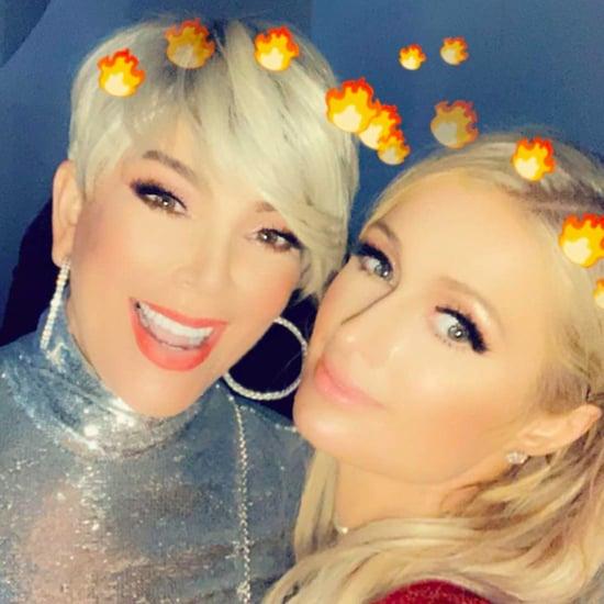Kris Jenner's Blonde Hair at Kardashian Christmas Party 2018
