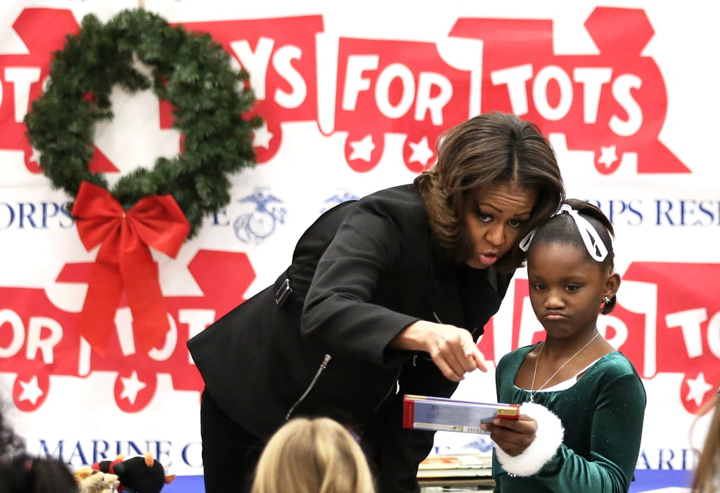 When she donated gifts to children for the Marine Corps\' Toys For ...