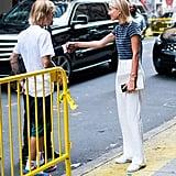 Hailey Baldwin White Pants With Justin Bieber