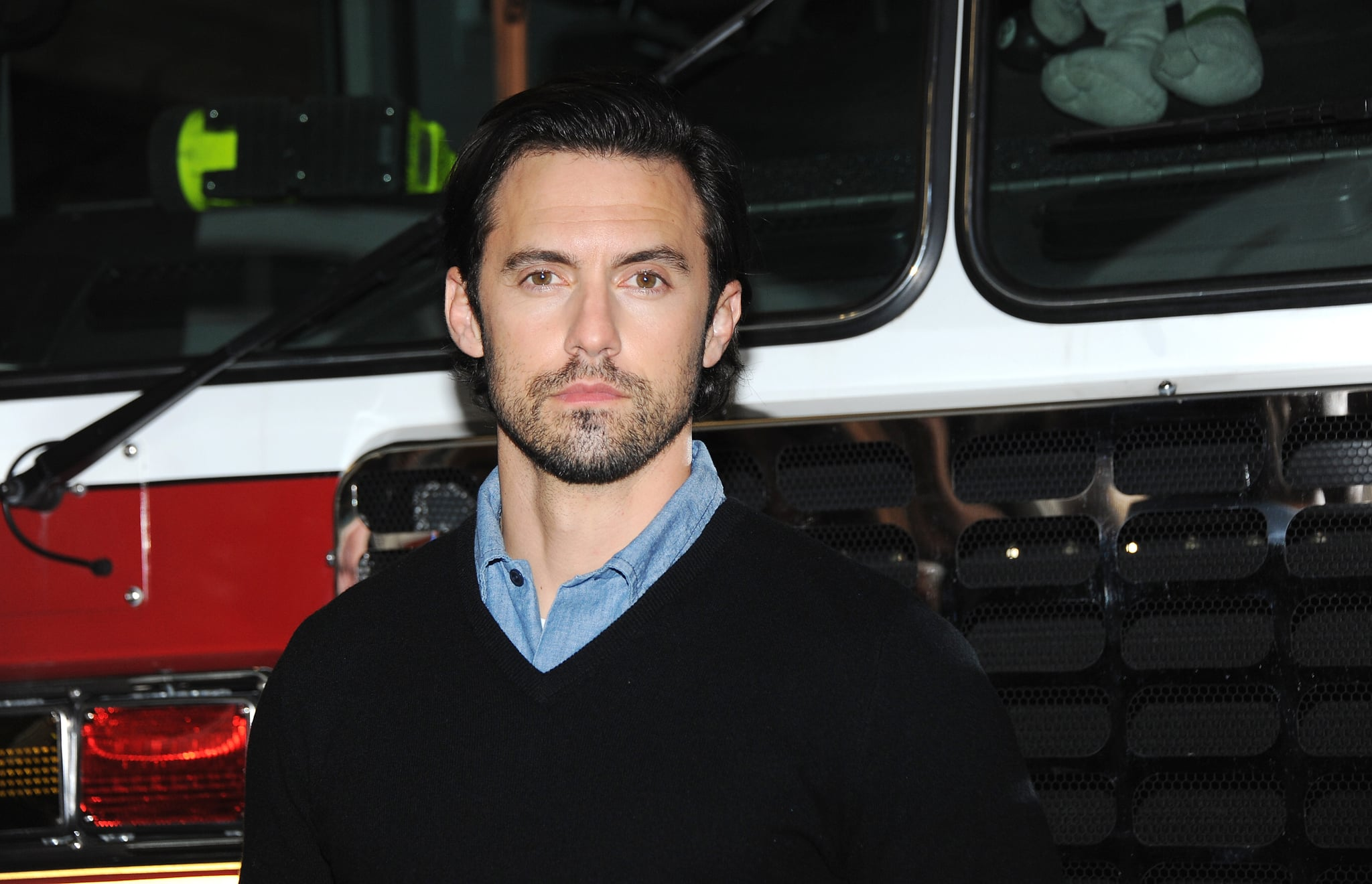 NEW YORK, NY - MARCH 08:  Actor Milo Ventimiglia teams up with Duracell and the FDNY for Fire Safety at FDNY165 51st Street on March 8, 2018 in New York City.  (Photo by Desiree Navarro/WireImage)