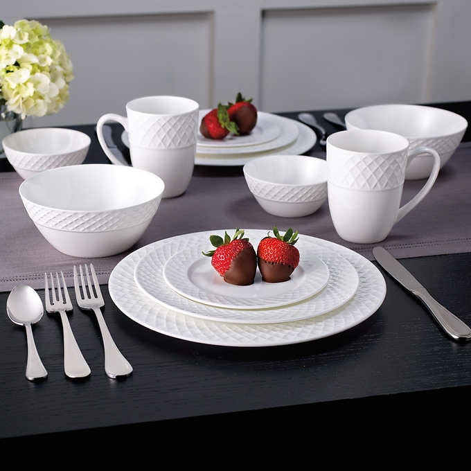 Bone China Dinnerware Set 36 Pieces & Bone China Dinnerware Set 36 Pieces | Costco Holiday Deals 2017 ...