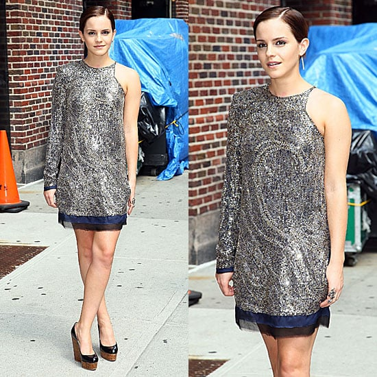 Emma Watson in Balmain Promoting Harry Potter and the Deathly Hallows Part 2 2011-07-11 15:59:47